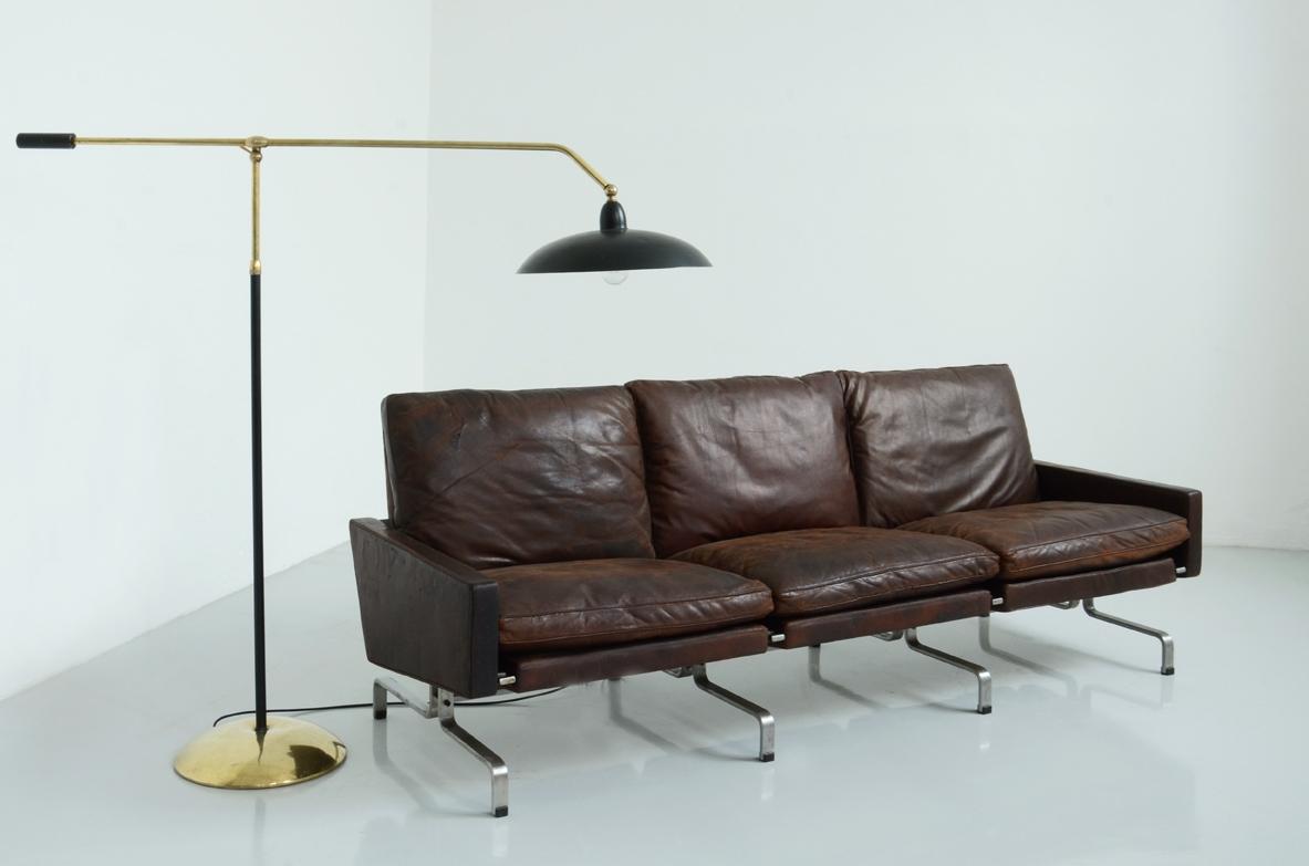 Paul kj rholm divano a tre posti modello pk 31 3 for Color tabacco mobili