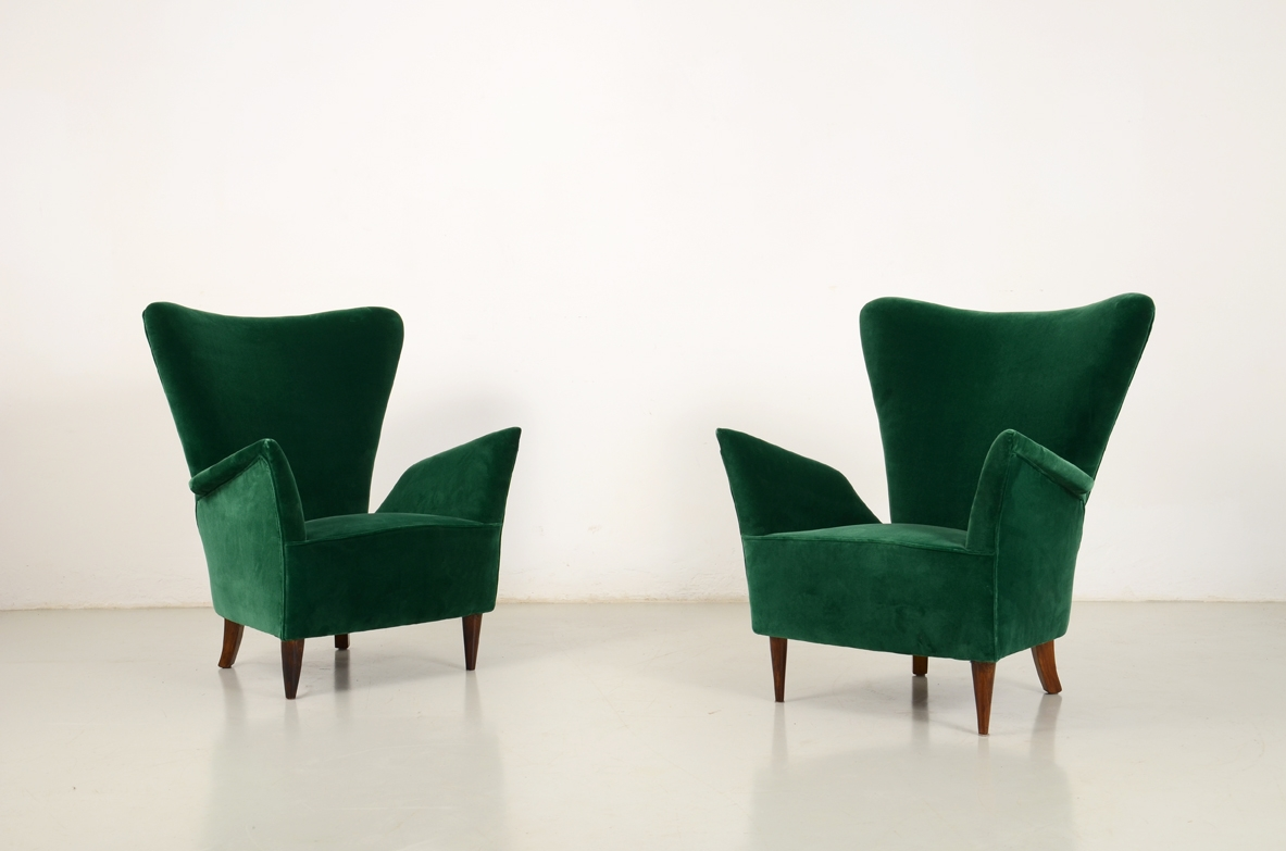 Poltrone In Velluto.Vintage Design Modernariato Art Deco Design Del 900